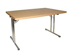 Stół bankietowy z metalową podstawą składaną