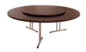 Stół bankietowy okrągły z obrotową nakładką