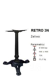 Podstawa żeliwna RETRO 3N