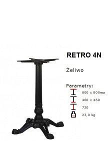 Stylowa podstawa żeliwna RETRO 4N