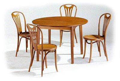 Stół okrągły RONDO i krzesła gięte