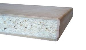 Blat drewniany utwardzony z obłogiem