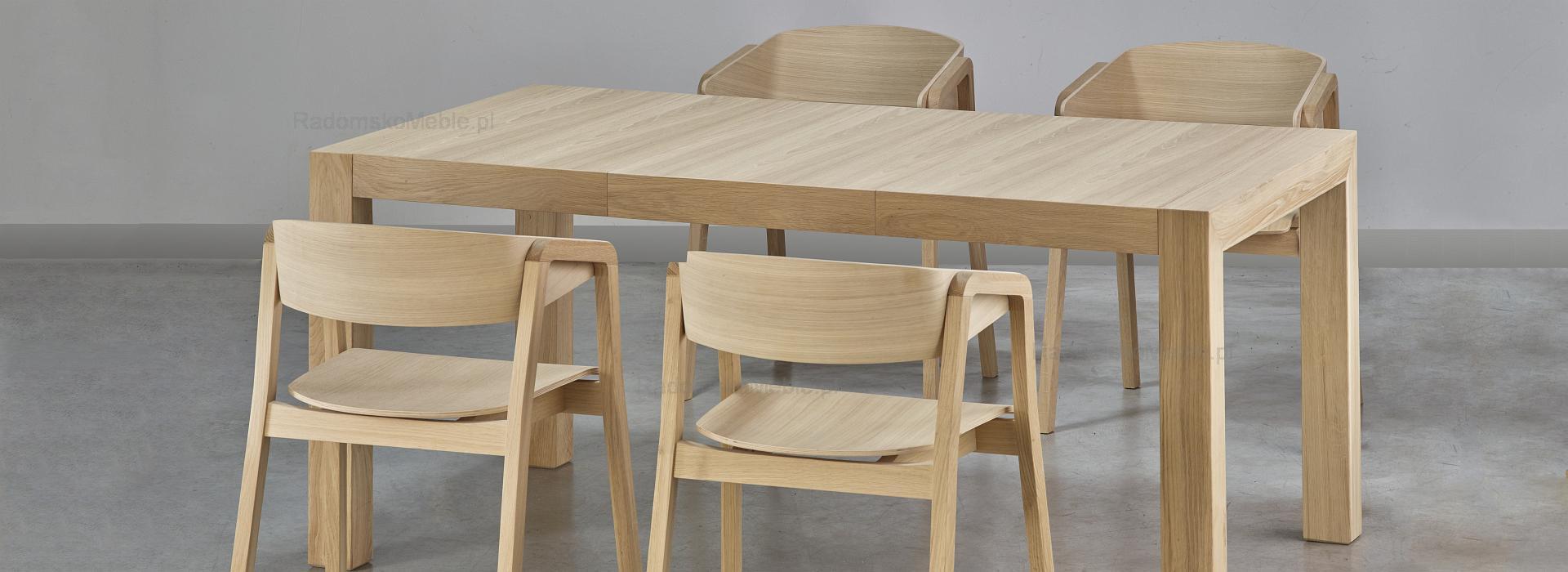 Stół ST SINPLE + Fotel CAVA BS  DĄB